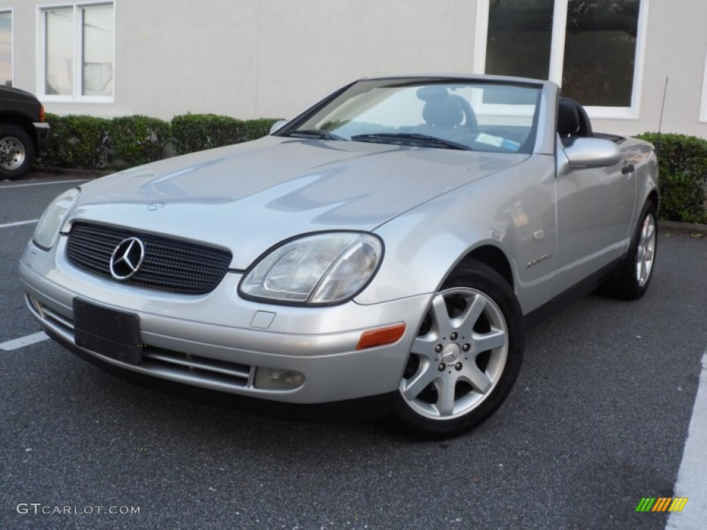 brilliant silver metallic 2000 mercedes benz slk 230 kompressor roadster exterior photo. Black Bedroom Furniture Sets. Home Design Ideas