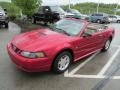 2001 Performance Red Ford Mustang V6 Convertible  photo #9