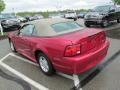 2001 Performance Red Ford Mustang V6 Convertible  photo #12
