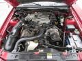 2001 Performance Red Ford Mustang V6 Convertible  photo #14