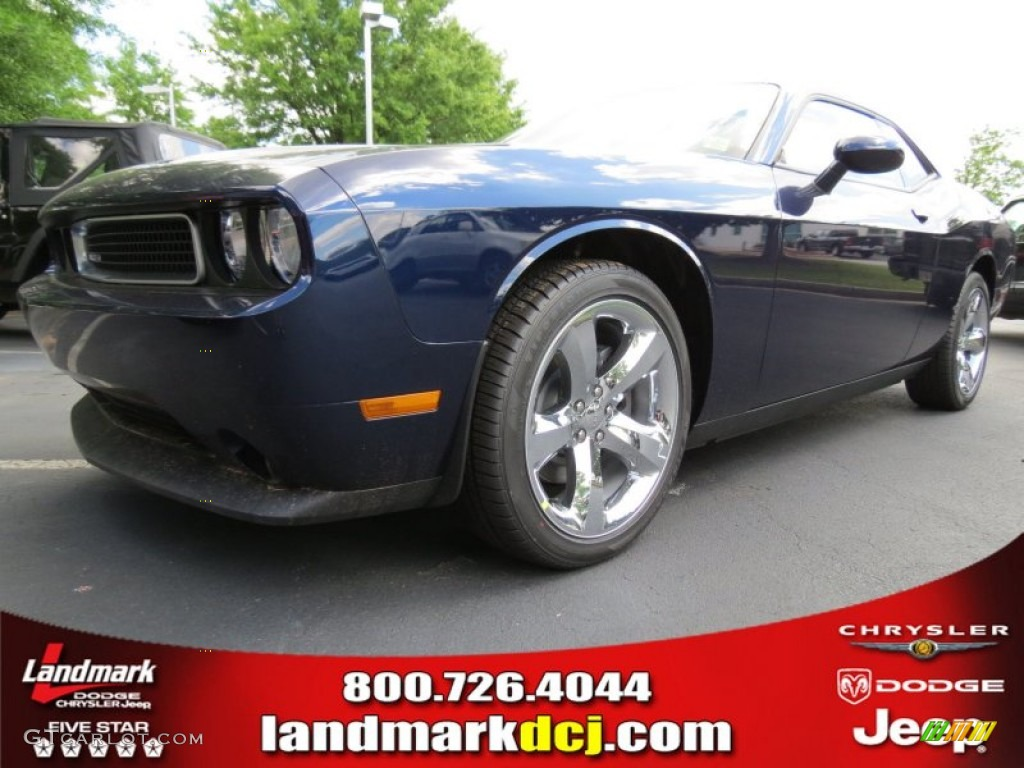 2013 Challenger SXT - Jazz Blue Pearl / Dark Slate Gray photo #1