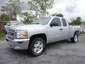 2013 Silver Ice Metallic Chevrolet Silverado 1500 LT Extended Cab  photo #3