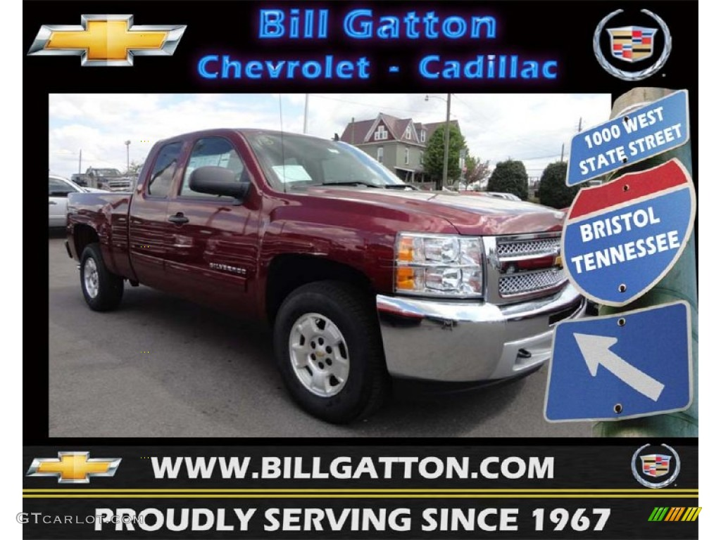 2013 Silverado 1500 LT Extended Cab 4x4 - Deep Ruby Metallic / Ebony photo #1