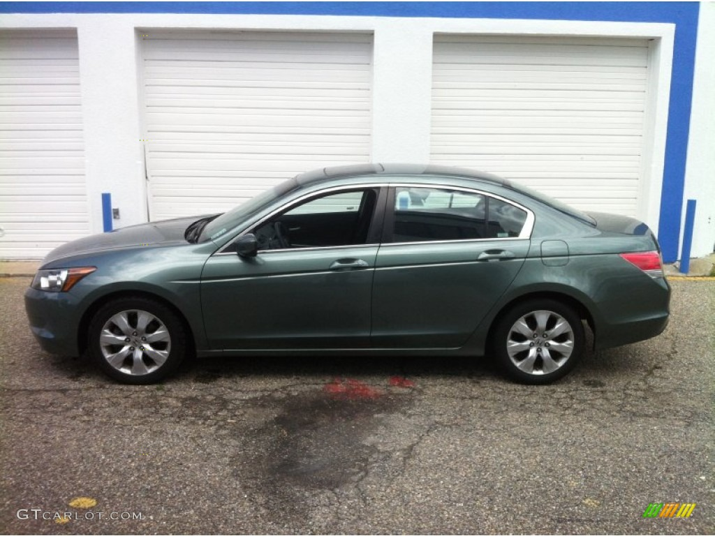 Mystic Green Metallic 2009 Honda Accord Ex Sedan Exterior