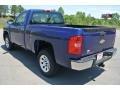 2013 Blue Topaz Metallic Chevrolet Silverado 1500 Work Truck Regular Cab  photo #3