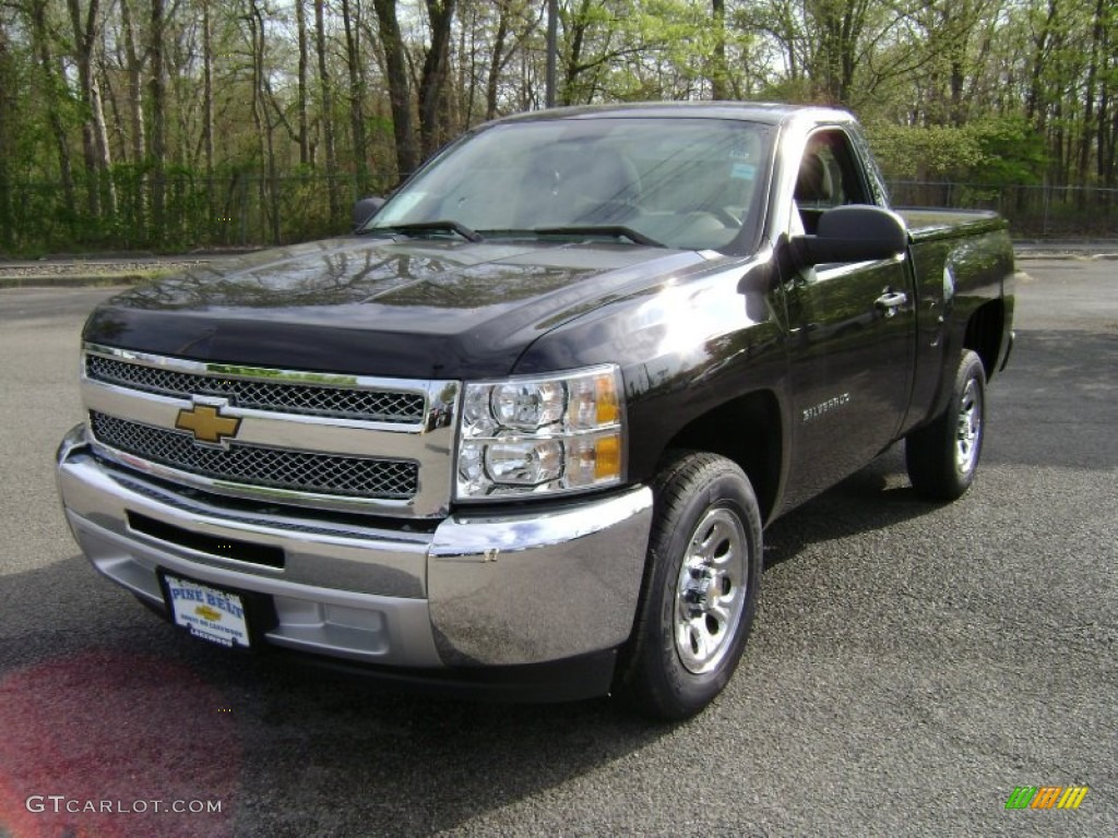 2013 Silverado 1500 LS Regular Cab - Black / Dark Titanium photo #1