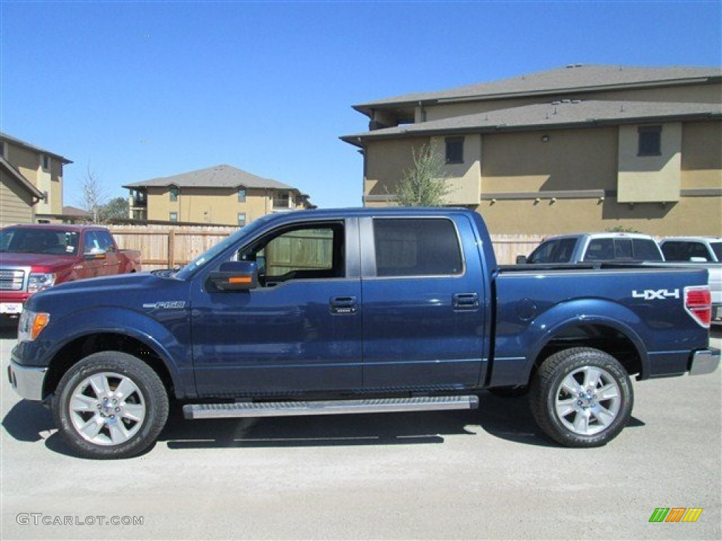 Blue Jeans Metallic 2013 Ford F150 Lariat Supercrew 4x4