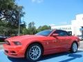 2014 Race Red Ford Mustang V6 Premium Convertible  photo #1