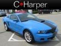 2011 Grabber Blue Ford Mustang V6 Premium Coupe  photo #1