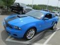 2011 Grabber Blue Ford Mustang V6 Premium Coupe  photo #5