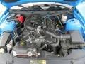 2011 Grabber Blue Ford Mustang V6 Premium Coupe  photo #12