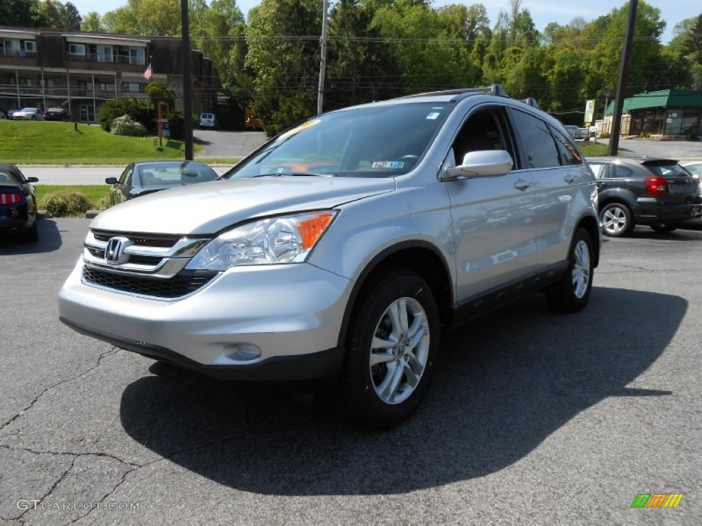 2010 CR-V EX-L AWD - Alabaster Silver Metallic / Gray photo #3