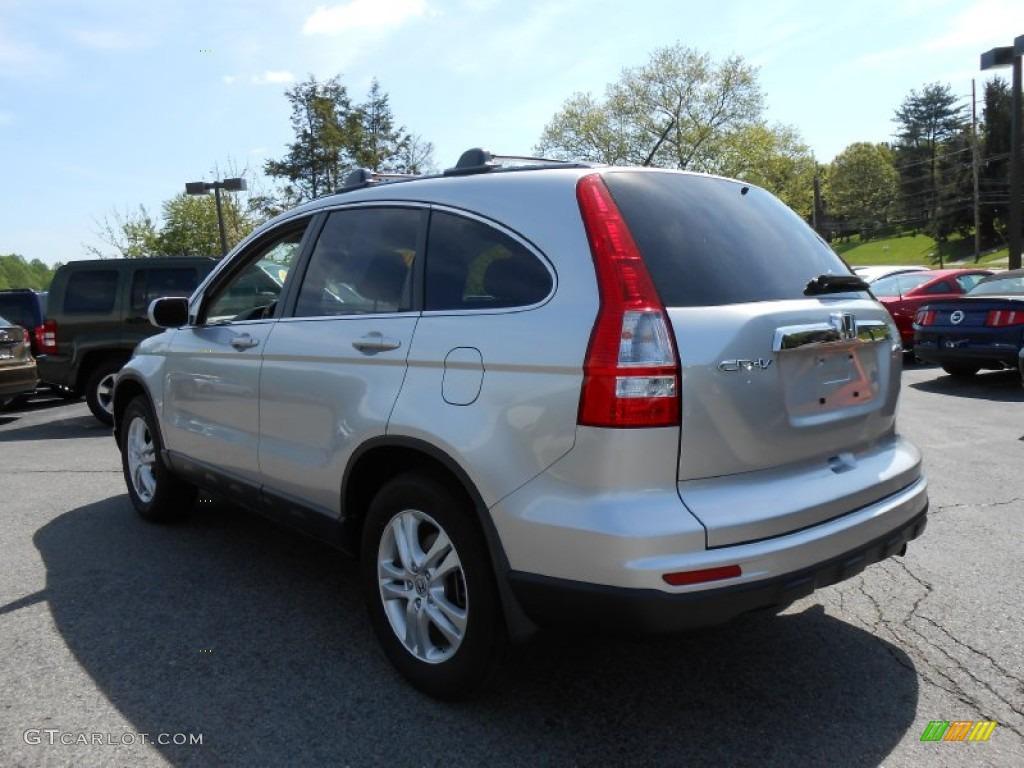 2010 CR-V EX-L AWD - Alabaster Silver Metallic / Gray photo #5