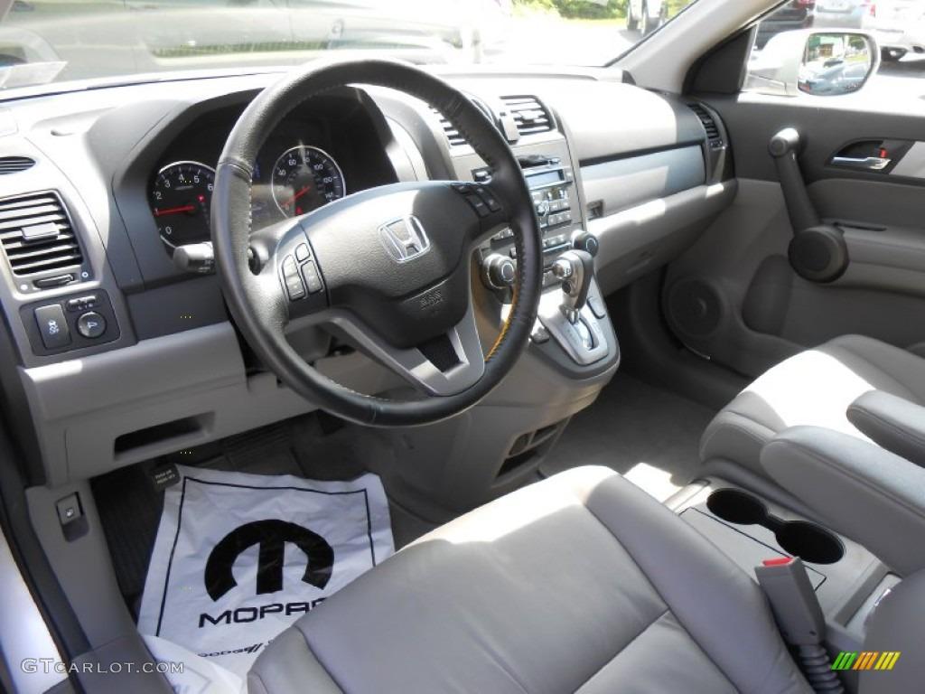 2010 CR-V EX-L AWD - Alabaster Silver Metallic / Gray photo #9