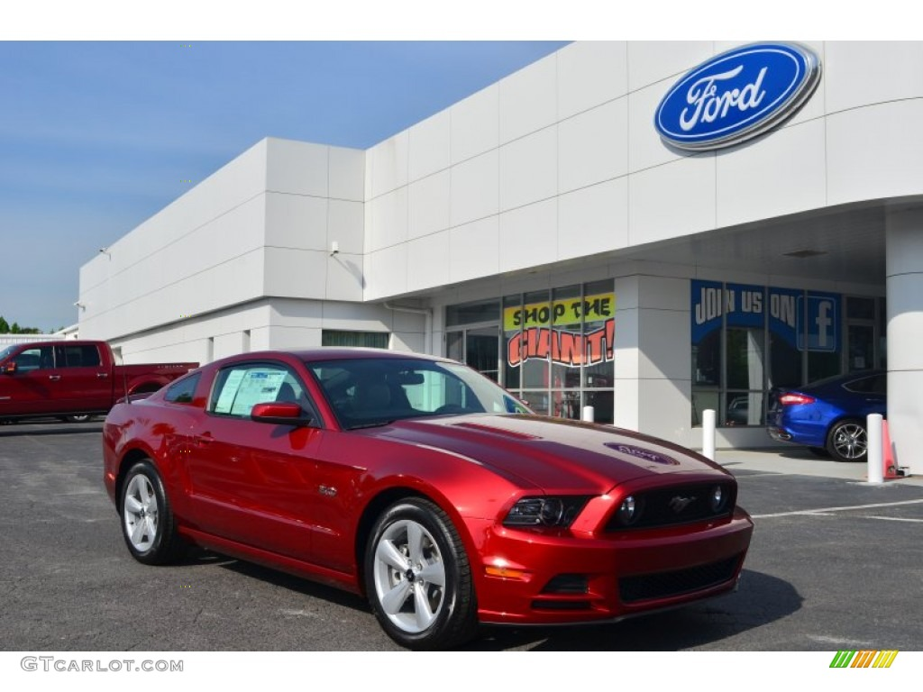 2014 mustang gt premium coupe ruby red medium stone photo 1