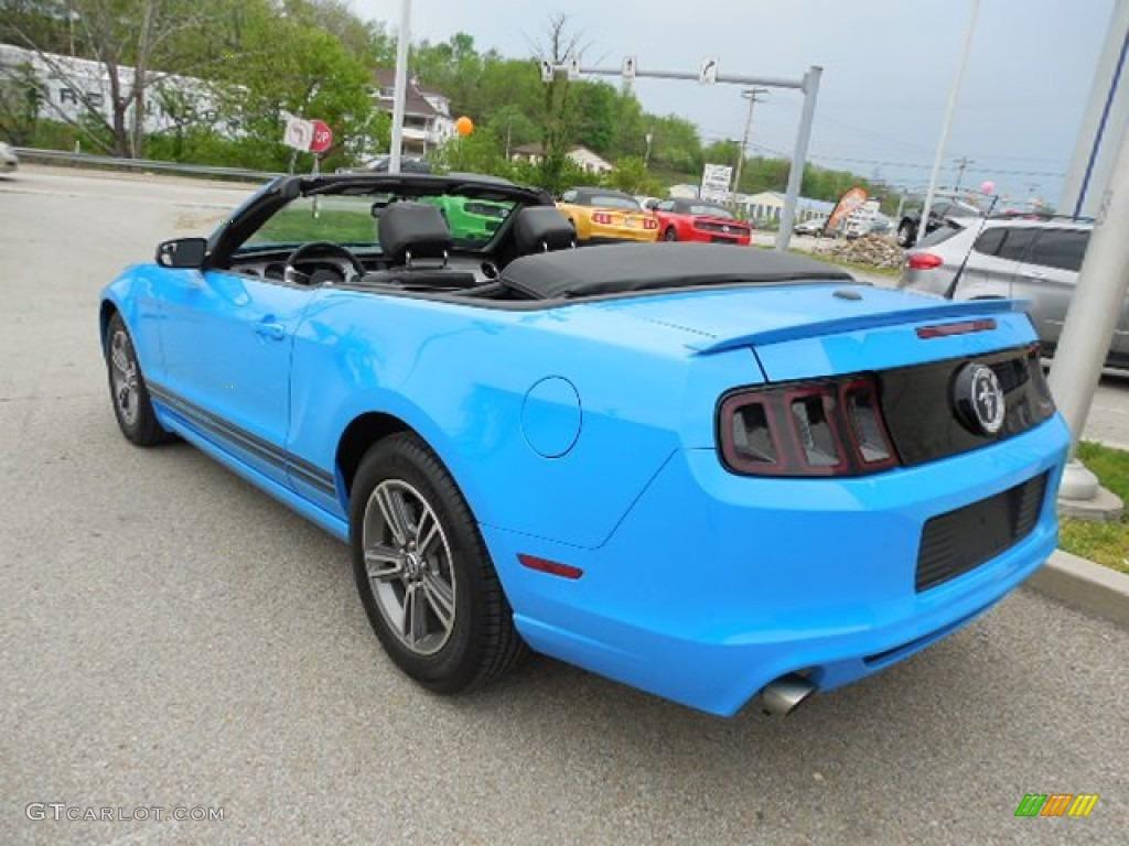 2013 grabber blue ford mustang v6 premium convertible 80895201 photo 4 car. Black Bedroom Furniture Sets. Home Design Ideas