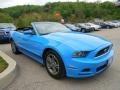 Grabber Blue 2013 Ford Mustang V6 Premium Convertible Exterior