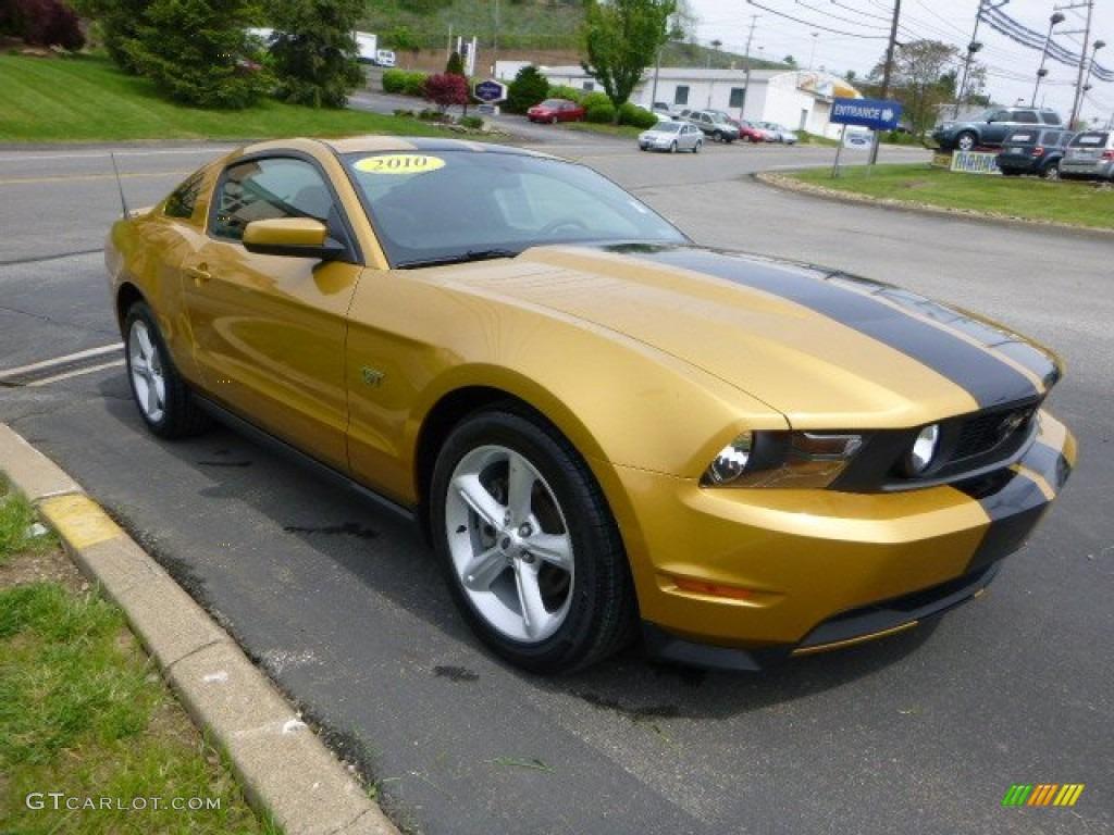 Sunset Gold Metallic Ford Mustang