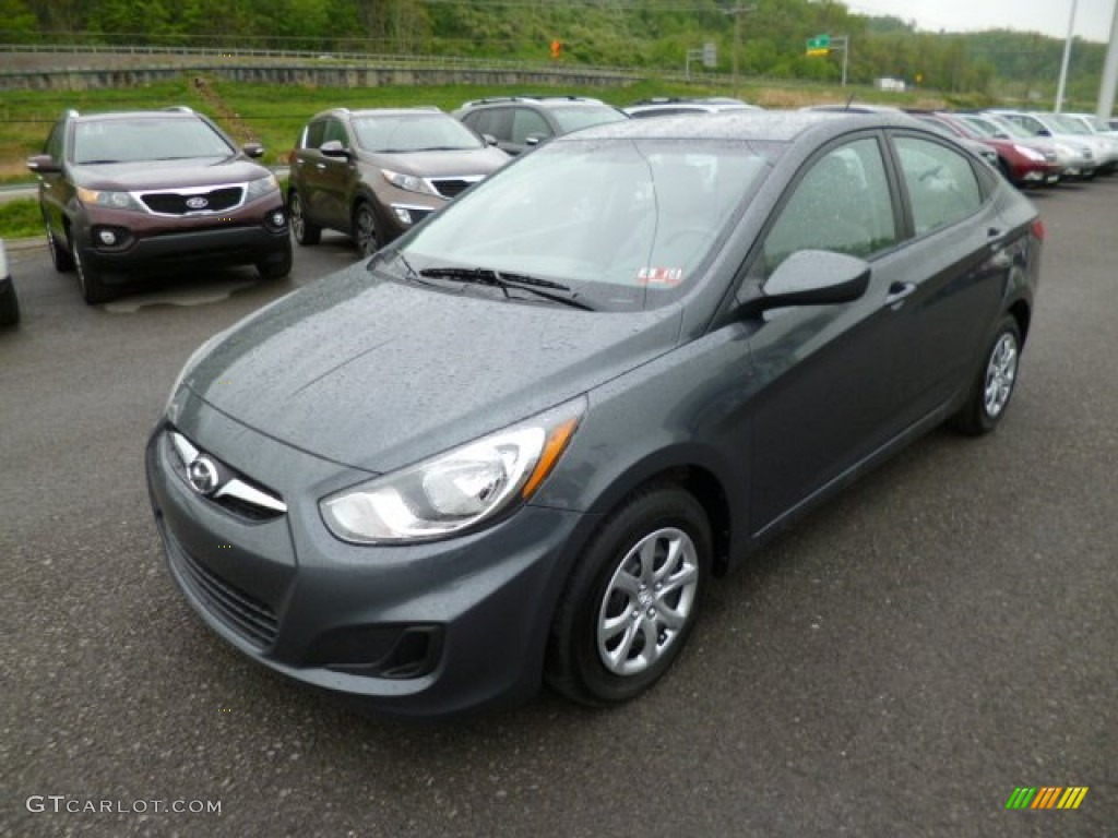 Cyclone gray 2012 hyundai accent gls 4 door exterior photo 80936169 for Accent colors for gray exterior