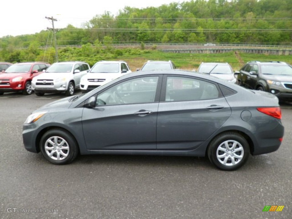 Cyclone gray 2012 hyundai accent gls 4 door exterior photo 80936190 for Accent colors for gray exterior