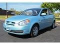 Ice Blue 2010 Hyundai Accent GS 3 Door