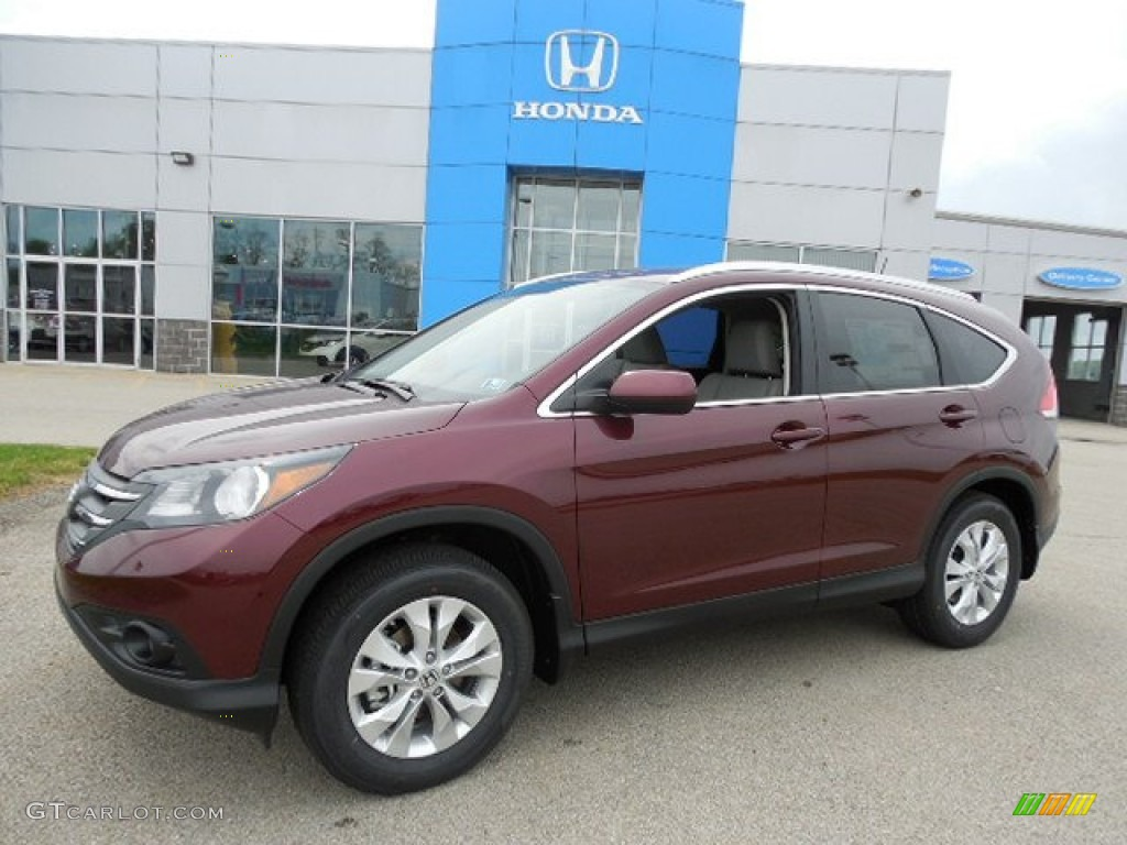 Basque Red Pearl Ii 2013 Honda Cr V Ex L Awd Exterior Photo 80946006
