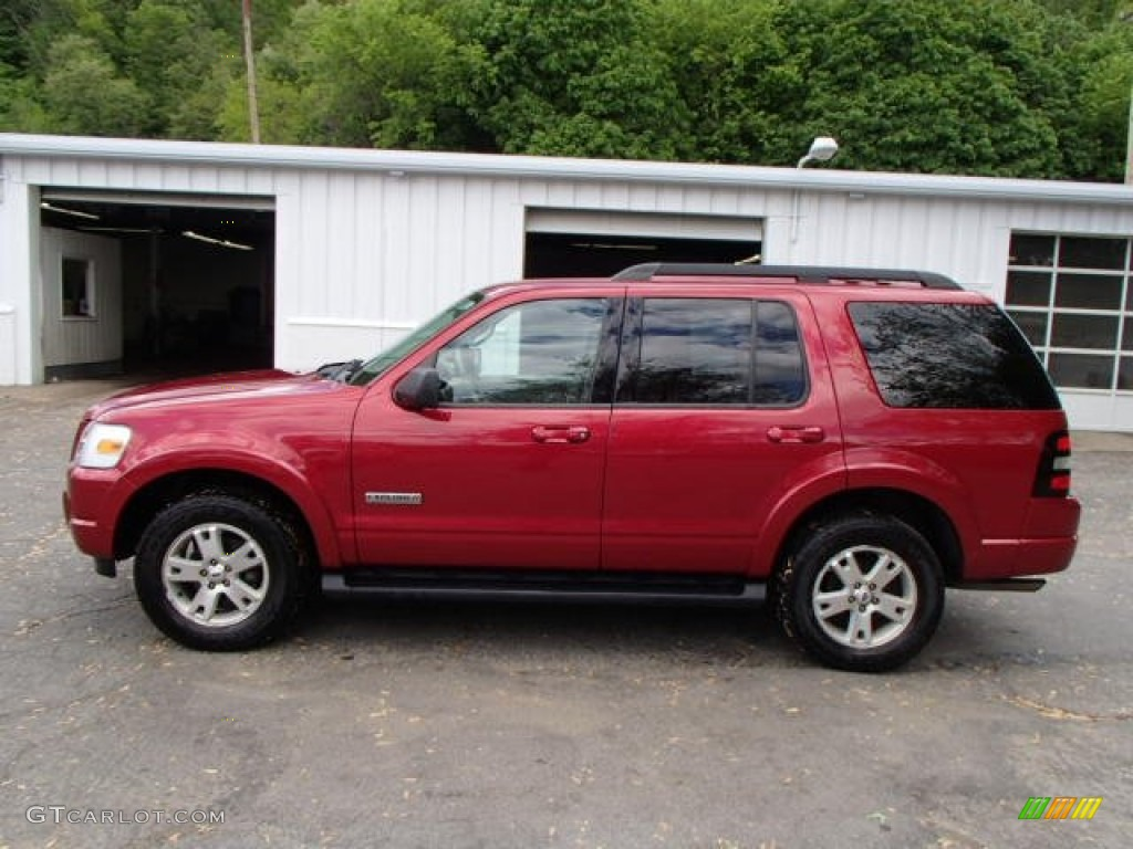 redfire metallic 2007 ford explorer xlt 4x4 exterior photo. Black Bedroom Furniture Sets. Home Design Ideas