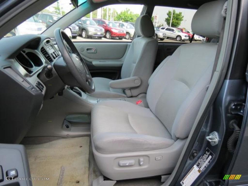 Ash Gray Interior 2006 Toyota Highlander V6 Photo 80978116