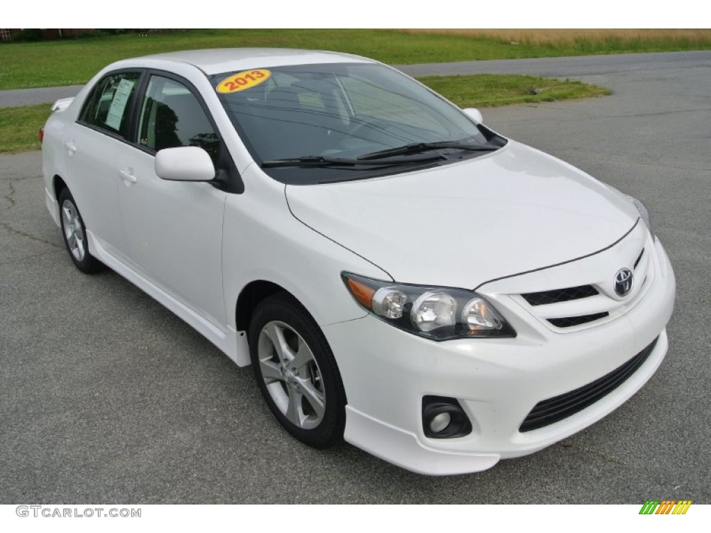 super white 2013 toyota corolla s exterior photo 80981397. Black Bedroom Furniture Sets. Home Design Ideas