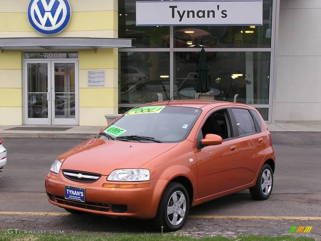 2006 Spicy Orange Chevrolet Aveo Ls Hatchback 8087063