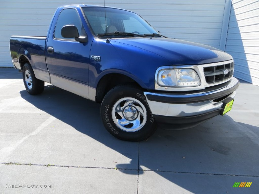 1997 portofino blue metallic ford f150 xl regular cab 80970592 car color galleries. Black Bedroom Furniture Sets. Home Design Ideas