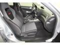 2009 Subaru Impreza Carbon Black Interior Front Seat Photo