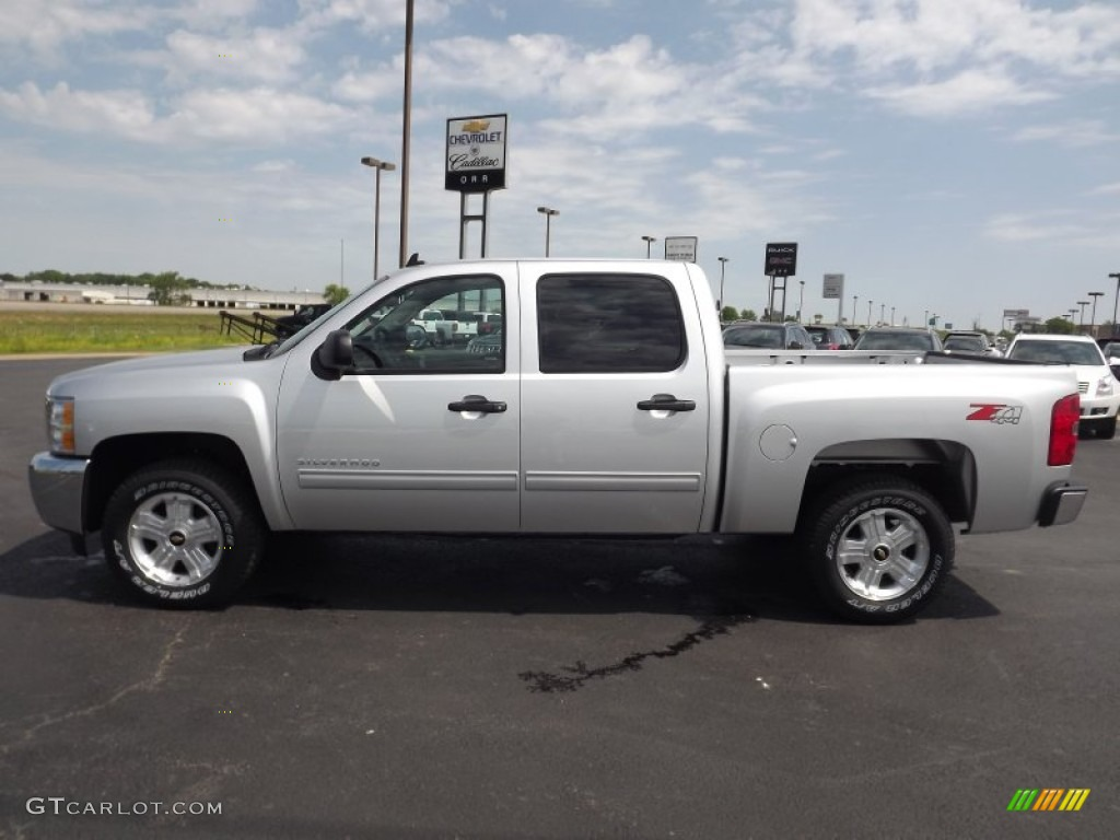 2013 Silverado 1500 LT Crew Cab 4x4 - Silver Ice Metallic / Light Titanium/Dark Titanium photo #8