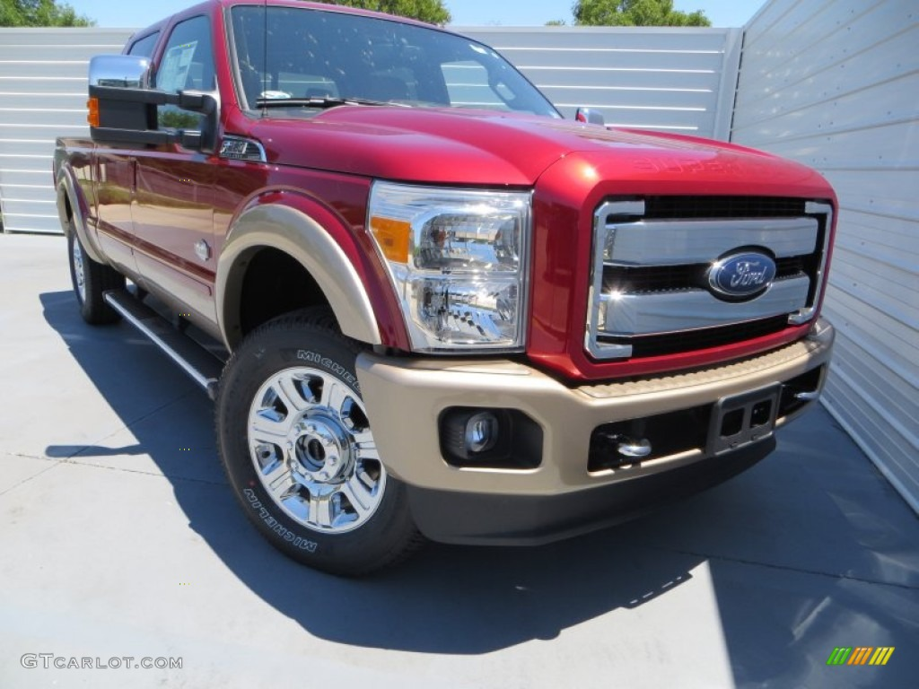 2013 Ruby Red Metallic Ford F250 Super Duty King Ranch Crew Cab 4x4 80970576