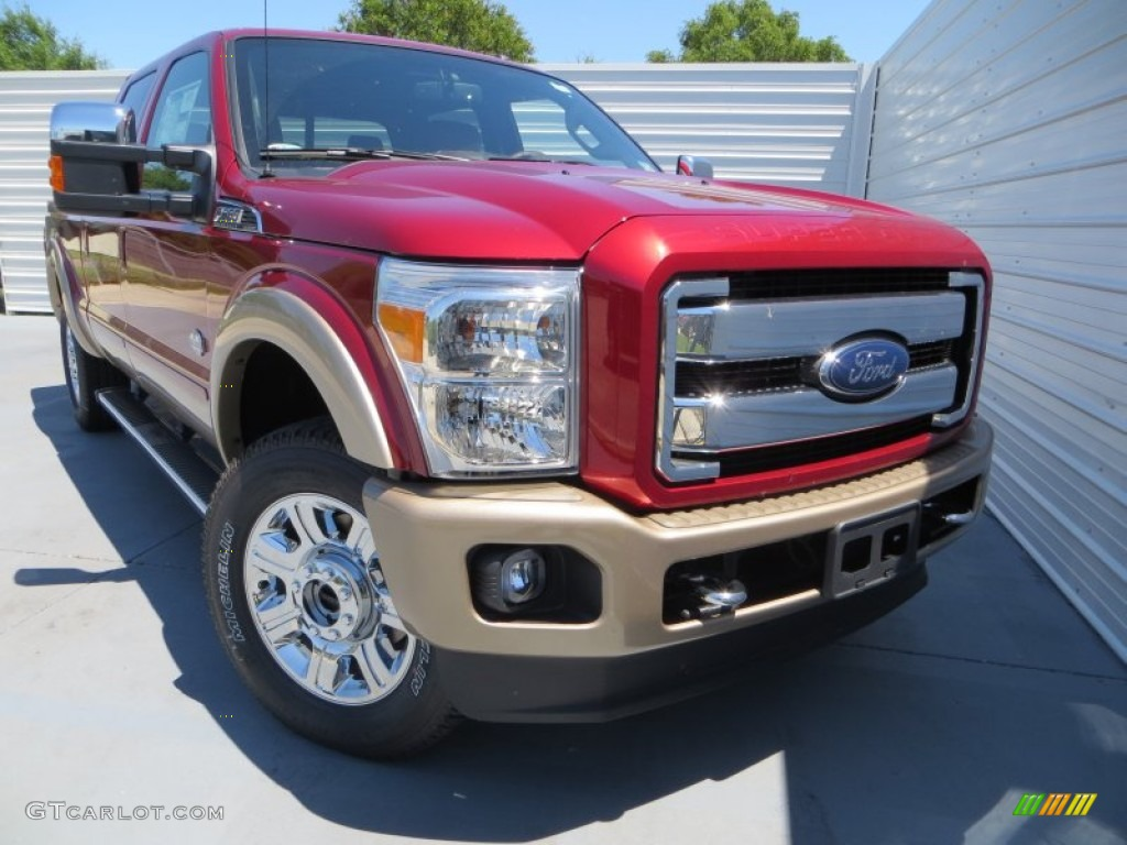 2013 f250 super duty king ranch crew cab 4x4 ruby red metallic king ranch