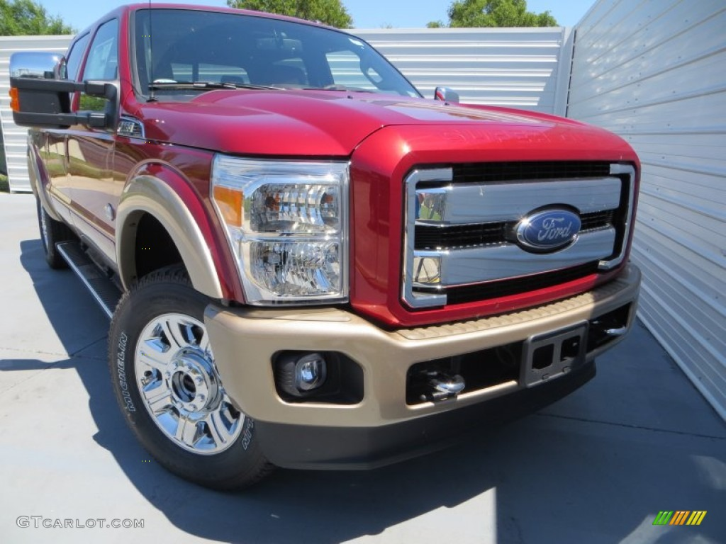 2013 Ruby Red Metallic Ford F250 Super Duty King Ranch Crew Cab 4x4 80970573 Photo 2