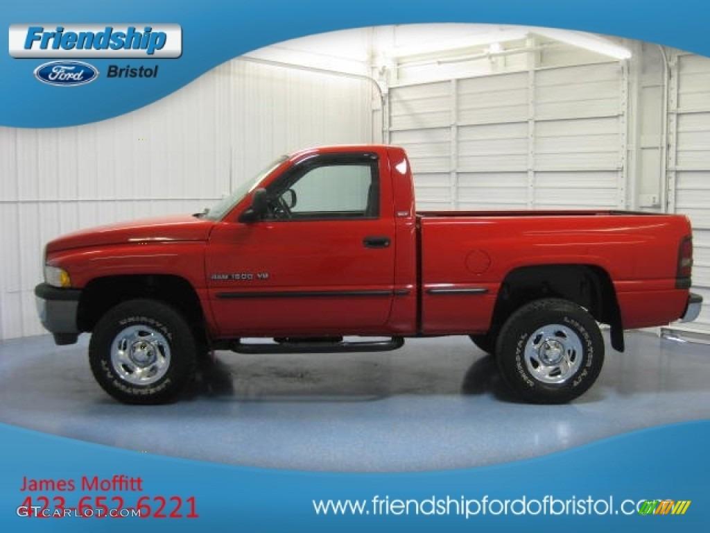 1998 flame red dodge ram 1500 laramie slt regular cab 4x4 81011238 car color. Black Bedroom Furniture Sets. Home Design Ideas