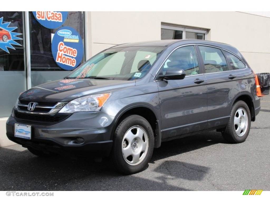 2010 CR-V LX AWD - Polished Metal Metallic / Gray photo #1