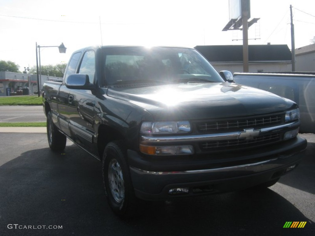 2002 Silverado 1500 LS Extended Cab 4x4 - Forest Green Metallic / Graphite Gray photo #1