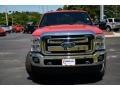 2012 Vermillion Red Ford F250 Super Duty Lariat Crew Cab 4x4  photo #2