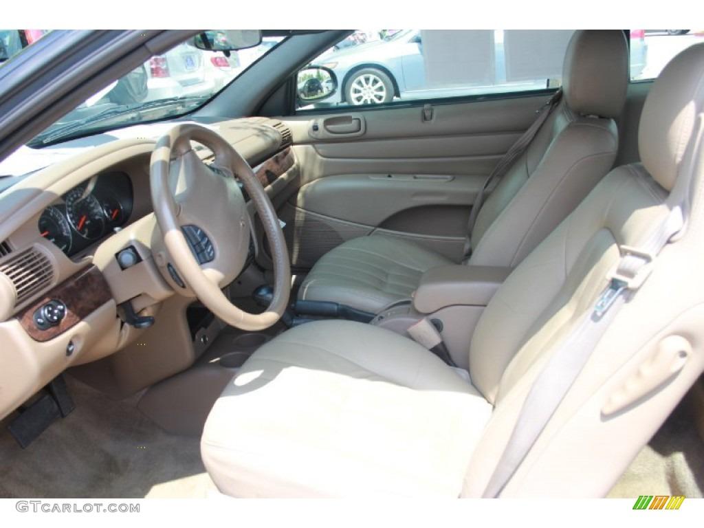 Sandstone Interior 2004 Chrysler Sebring Lxi Convertible Photo 81038058