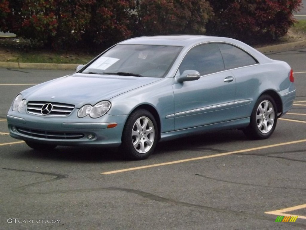 2004 ice blue metallic mercedes benz clk 320 coupe for 2004 mercedes benz clk500 coupe