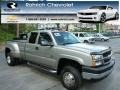 2003 Light Pewter Metallic Chevrolet Silverado 3500 LS Extended Cab 4x4 Dually  photo #1