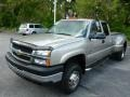2003 Light Pewter Metallic Chevrolet Silverado 3500 LS Extended Cab 4x4 Dually  photo #3