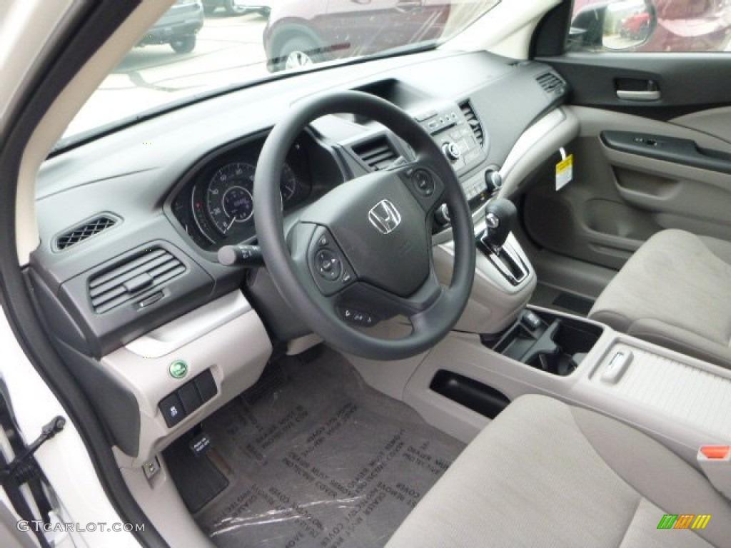 2013 CR-V LX AWD - White Diamond Pearl / Gray photo #15