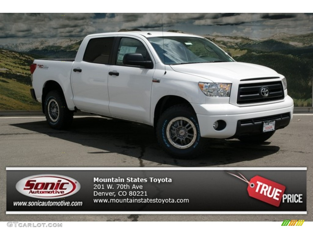 2013 Tundra TRD Rock Warrior CrewMax 4x4 - Super White / Black photo #1