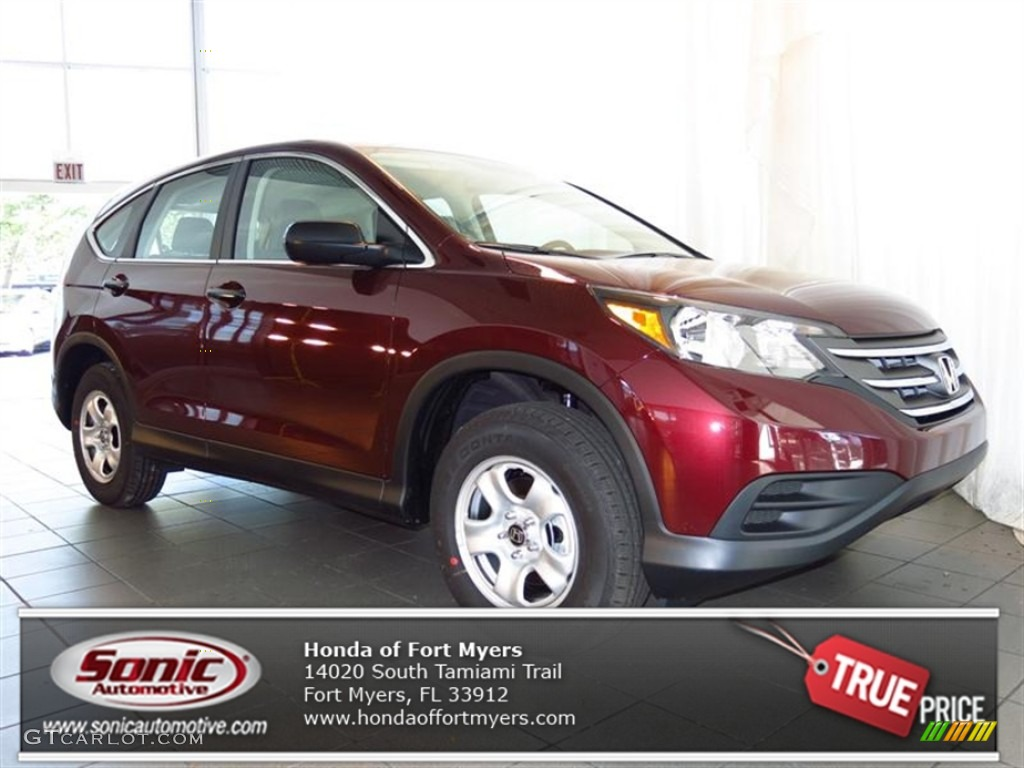 2013 CR-V LX - Basque Red Pearl II / Gray photo #1