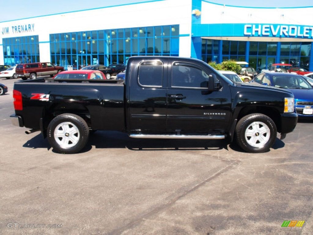 2011 Silverado 1500 LTZ Extended Cab 4x4 - Black / Ebony photo #1