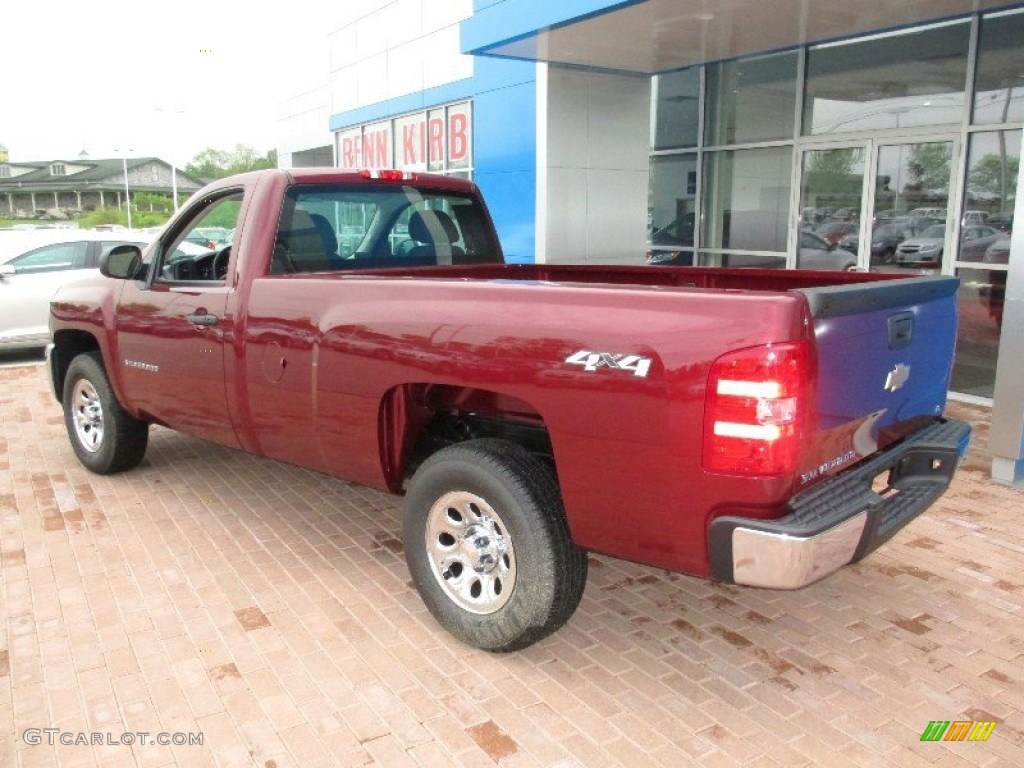 2013 Silverado 1500 Work Truck Regular Cab 4x4 - Deep Ruby Metallic / Dark Titanium photo #2