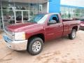 2013 Deep Ruby Metallic Chevrolet Silverado 1500 Work Truck Regular Cab 4x4  photo #10